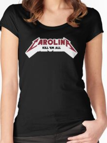Carolina - Kill 'Em All (Garnet & Black Text) Women's Fitted Scoop T-Shirt