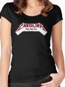Carolina - Kill 'Em All (Garnet Text) Women's Fitted Scoop T-Shirt