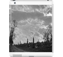 Creepy cemetery iPad Case/Skin