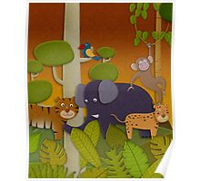 Kids Jungle Party Poster