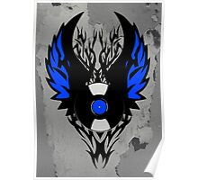 Vinyl Record - Modern Spikes Tribal and Wings Design Poster