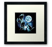 Three Goat Moon Framed Print