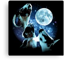 Three Goat Moon Canvas Print
