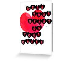 Heart on Cheek Greeting Card