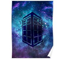 Doctor Who Tardis Galaxy Poster