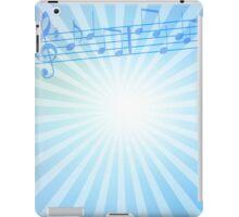 Music Notes Blue Sunburst iPad Case/Skin