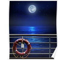 Night Moon Cruise Poster