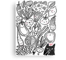 Funny vegetables Metal Print