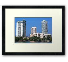 City landscape of buildings Framed Print