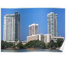 City landscape of buildings Poster