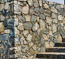Rock wall & stairs  by Mudith Jayasekara