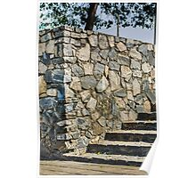 Rock wall & stairs  Poster