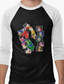 Mousetron Men's Baseball ¾ T-Shirt