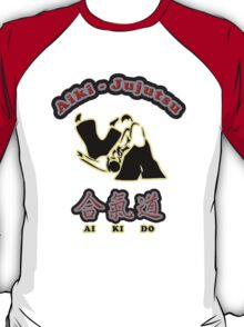 Aikido Aiki-Jujutsu Designers Tees and Stickers T-Shirt