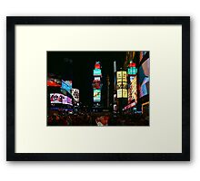 I Want to Wake Up in the City That Never Sleeps Framed Print