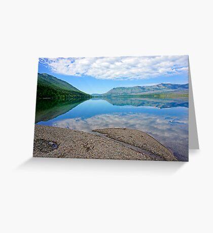 Blue Mirror Greeting Card