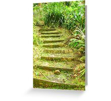 """""""Manoa Path"""" by Carter L. Shepard Greeting Card"""