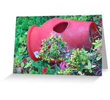 """Hawaii Flower Pot"" by Carter L. Shepard Greeting Card"