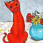 kitch cat  by HelenAmyes