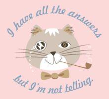 Not Telling Cat Kids Tee