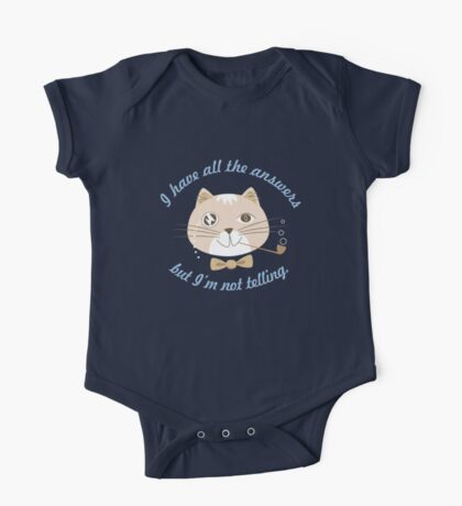 Not Telling Cat One Piece - Short Sleeve