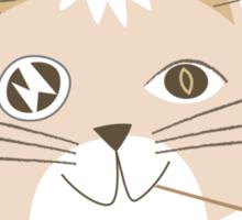Not Telling Cat Sticker