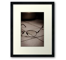 Vintage reading spectacles Framed Print