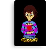 Frisk from Undertale Canvas Print