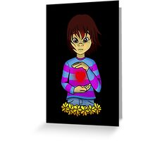 Frisk from Undertale Greeting Card