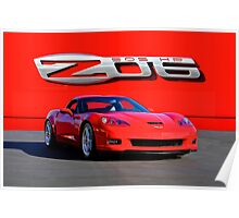 2006 Corvette ZO6 427 cu in 505 hp Poster