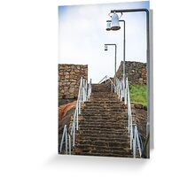 Rock stair way to top Greeting Card