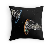 fireflying through portals Throw Pillow