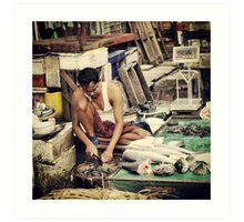 Burmese Fishmonger Art Print