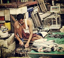 Burmese Fishmonger by RoamingRoan