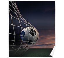 Soccer Ball Goal Poster