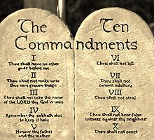 The Ten Commandments  by Cynthia48