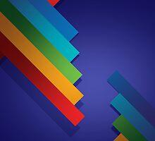 Stripes on Royal Blue Background by Gotcha29