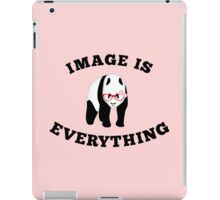 Panda in red glasses iPad Case/Skin