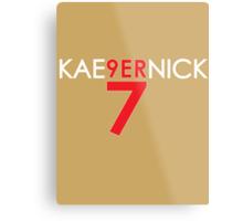 KAE9ERNICK 7 - QB #7 Colin Kaepernick of the San Francisco 49ers [DARK] Metal Print