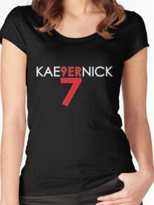 KAE9ERNICK 7 - QB #7 Colin Kaepernick of the San Francisco 49ers [DARK] Women's Fitted Scoop T-Shirt