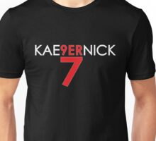 KAE9ERNICK 7 - QB #7 Colin Kaepernick of the San Francisco 49ers [DARK] Unisex T-Shirt