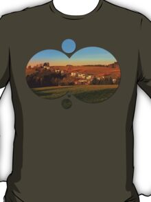 Village above the valley | landscape photography T-Shirt