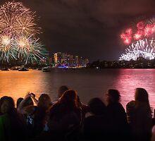 Sydney New Year's Eve Fireworks by Dev Wijewardane