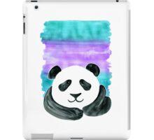 Lazy Panda on Mint & Violet iPad Case/Skin
