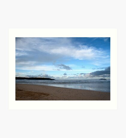 Blue Skies at Harlyn Bay, Cornwall Art Print