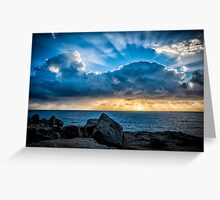 Fingers of God Greeting Card