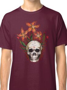 psychedelic skull flowers Classic T-Shirt