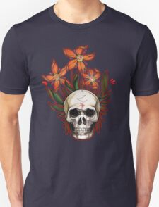 psychedelic skull flowers Unisex T-Shirt