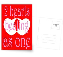 TWO HEARTS Postcards