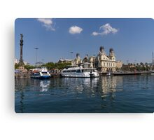 Postcard from Barcelona Canvas Print